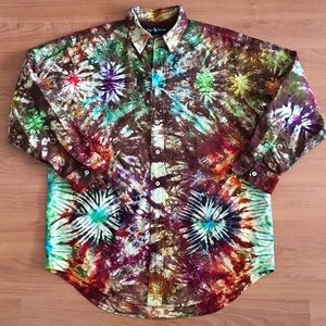 Ralph Lauren Tie Dye Yarmouth Button Front Shirt